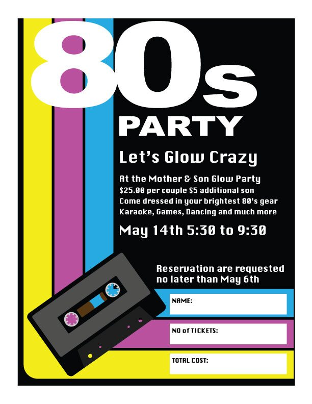 80's Party – Let's Glow Crazy | Immaculate Conception School